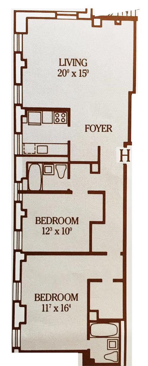 20H floor plan
